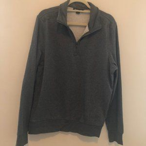 MICHAEL KORS 1/2 Zip Pullover Large Grey I24
